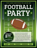 Fußball Party Flyer