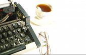 Typewriter Anad Coffee