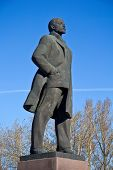 stock photo of lenin  - Monument of Vladimir Lenin in the town Odintsovo Moscow area - JPG
