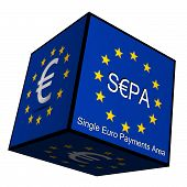 SEPA - Single Euro Payments Area - Button 3d