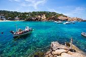 Ibiza Cala Vedella Vadella in Sant Josep at Balearic Islands of spain