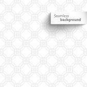 Seamless white wave geometric texture