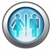 Icon Button Pictogram Restrooms