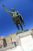The Trajan Forum, with bronze statue of Caesar, Rome, Italy