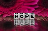 Hope Text With Flowers