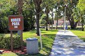 Huber Park Sign