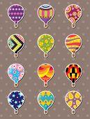 Cartoon Hot Air Balloon Stickers