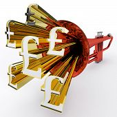 Pound Sign Shows British Wealth And Money