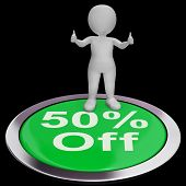 Fifty Percent Off Shows 50 Price Markdown