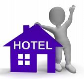 Hotel House Shows Vacation Accommodation And Rooms
