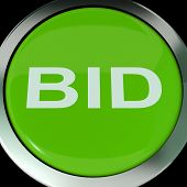Bid Button Shows Online Auction Or Bidding