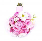 Beautiful wedding bouquet, isolated on white