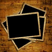 Old Grunge Paper Frames On The Ancient Background