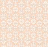 Dots circles white pattern on warm beige