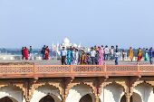 People Visit The Red Fort In Agra