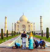 People Visit The Famous Taj Mahal