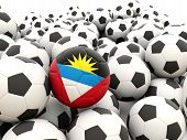 Football With Flag Of Antigua And Barbuda