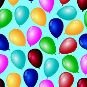 picture of helium  - colorful types of balloons with helium pattern eps10 - JPG
