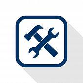 Setting flat icon