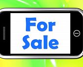 For Sale On Phone Means Purchasable Available To Buy Or On Offer