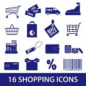 shopping icons set eps10