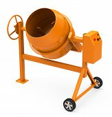 image of mixer  - 3d generated picture of a concrete mixer - JPG