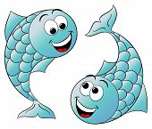 foto of pisces  - vector illustration of a zodiac sign  - JPG
