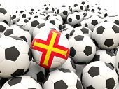 Football With Flag Of Guernsey