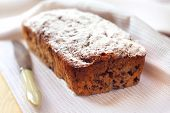 foto of walnut  - Banana cake with walnuts and dark chocolate