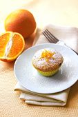 Cottage Cheese Muffin With Raisins And Orange Zest