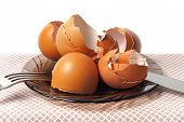 Egg Shells On A Table