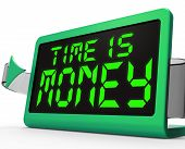 Time Is Money Clock Shows Valuable And Important Resource