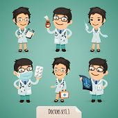 Doctors Cartoon Characters Set1.1