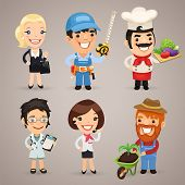 Professions Cartoon Characters Set1.3