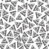 Vector 3D Geometrical seamless pattern