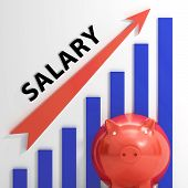 Salary Graph Shows Increase In Work Earnings