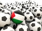 Football With Flag Of Palestinian Territory