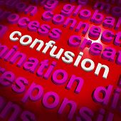 Confusion Word Cloud Means Confusing Confused Dilemma