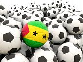 Football With Flag Of Sao Tome And Principe