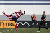 CARSON, CA - APRIL 6: Chivas USA M Thomas McNamara (17) during the MLS game between the Los Angeles