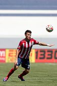 CARSON, CA - APRIL 6: Chivas USA M Carlos Alvarez (20) during the MLS game between the Los Angeles G