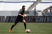 CARSON, CA - APRIL 6: Los Angeles Galaxy F Robbie Keane (7) during the MLS game between the Los Ange