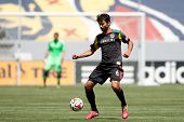 CARSON, CA - APRIL 6: Los Angeles Galaxy M Baggio Husidic (6) during the MLS game between the Los An