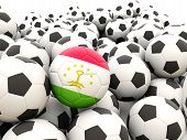 Football With Flag Of Tajikistan