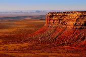 Beautiful Image of the vermillion Cliffs outside Monument valley