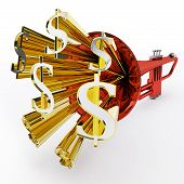 Dollar Sign Shows Money Wealth Or Bank