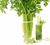 Diet Concept  With A Celery Juice