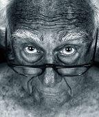 Amazing Close up Hyper focus Image of an Elderly man