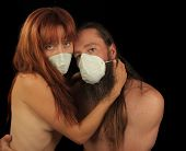 Tragic Image of 2 Lovers wearing Masks in Flu Outbreak