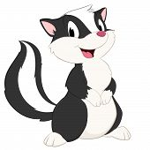 foto of skunk  - Cartoon skunk - JPG